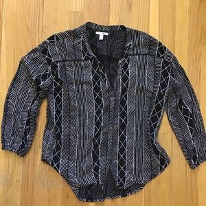 Amuse Society  button up blouse XS